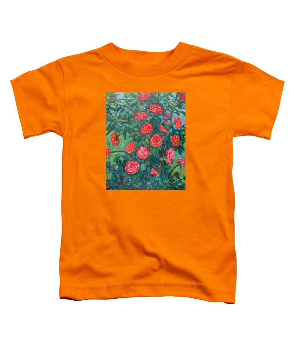 Rose Toddler T-Shirt featuring the painting Spring Roses by Kendall Kessler