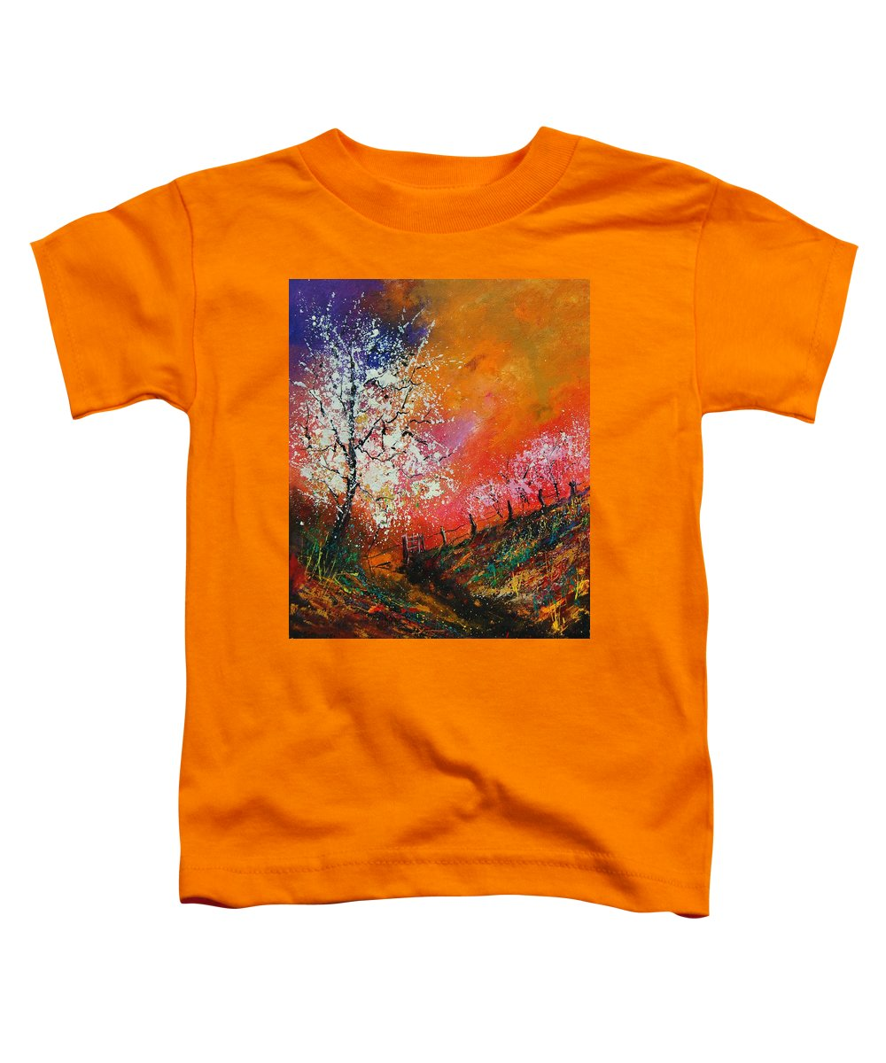 Spring Toddler T-Shirt featuring the painting Spring Today by Pol Ledent