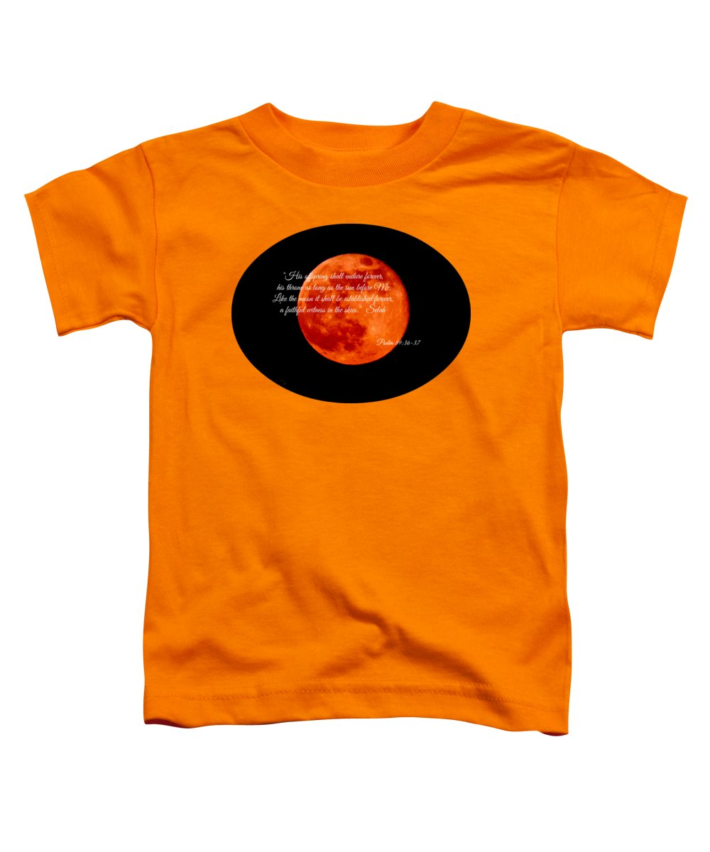 Strawberry Moon Toddler T-Shirt featuring the photograph Strawberry Moon by Anita Faye