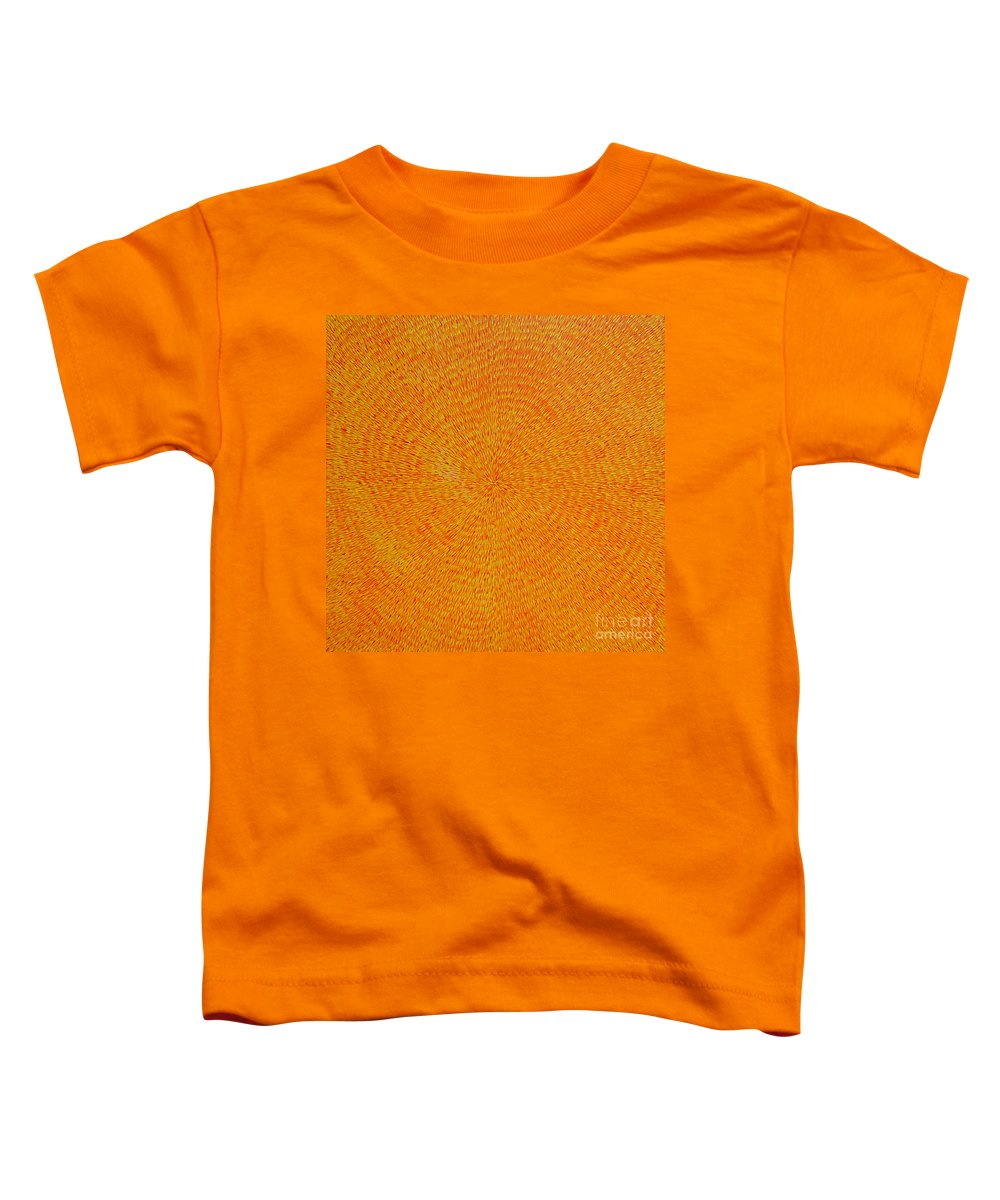 Abstract Toddler T-Shirt featuring the painting Su Gaia by Dean Triolo