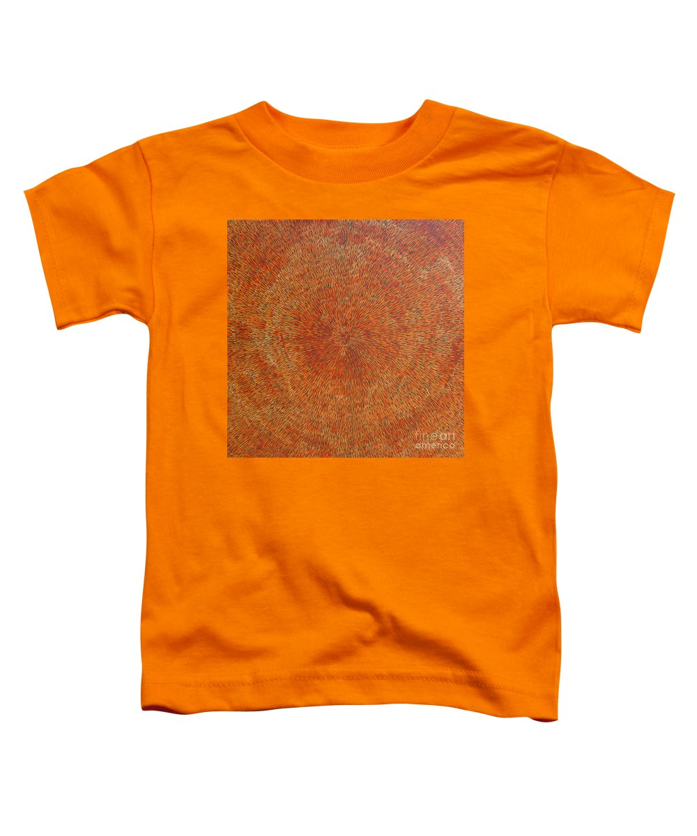 Abstract Toddler T-Shirt featuring the painting Su Gaia Earth by Dean Triolo