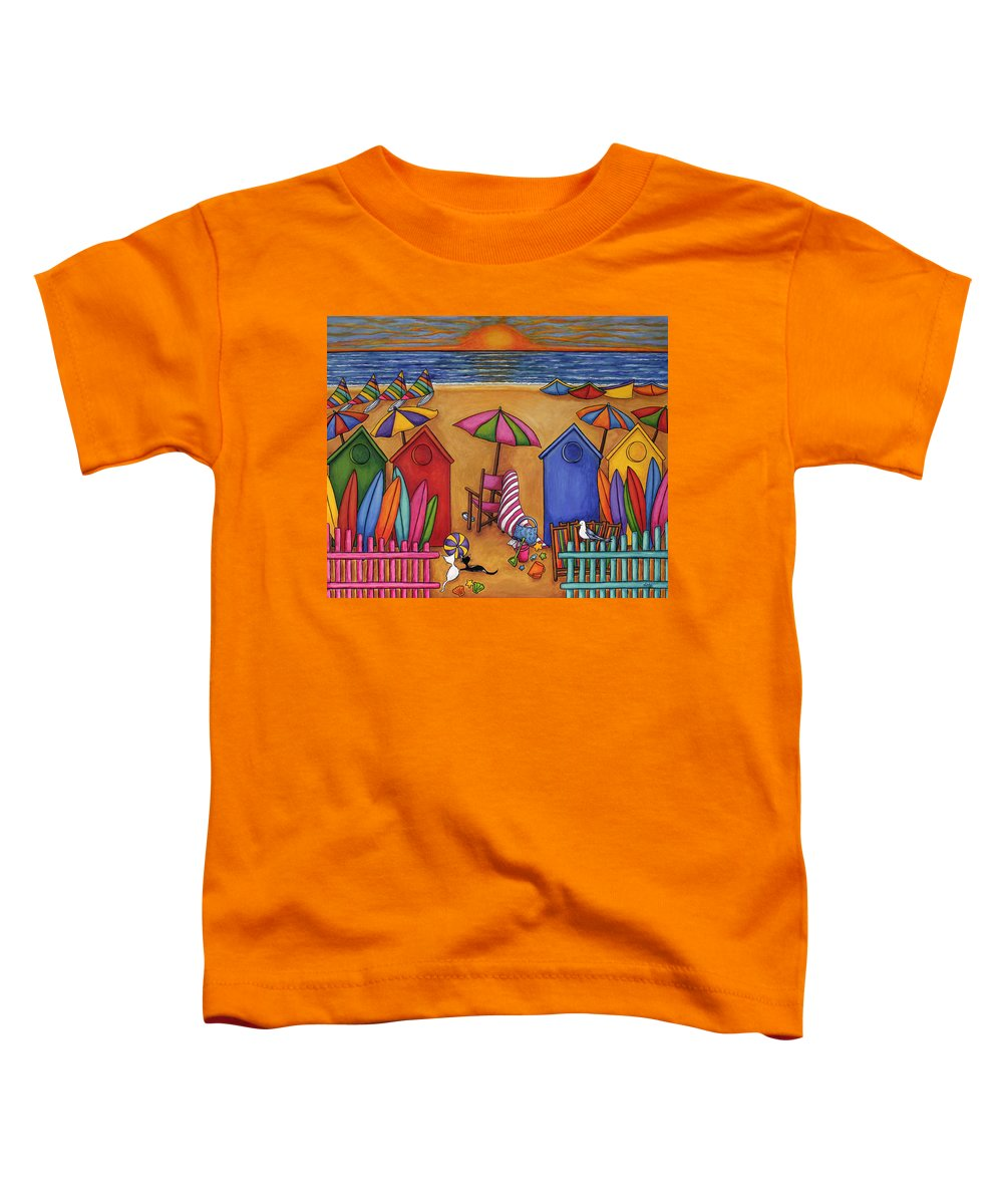 Summer Toddler T-Shirt featuring the painting Summer Delight by Lisa Lorenz