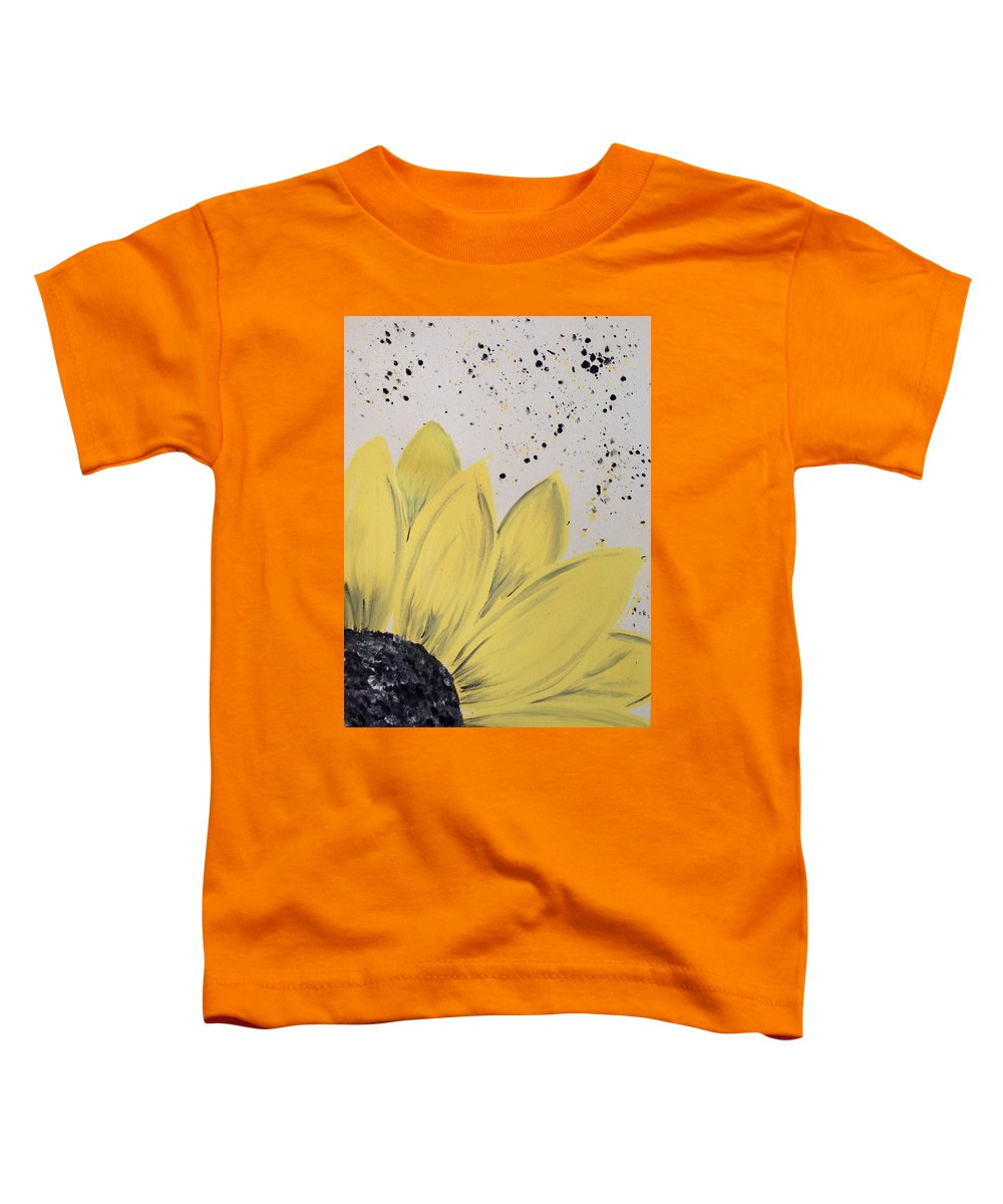 Color Toddler T-Shirt featuring the photograph Sunflower Splatter by Annie Walczyk