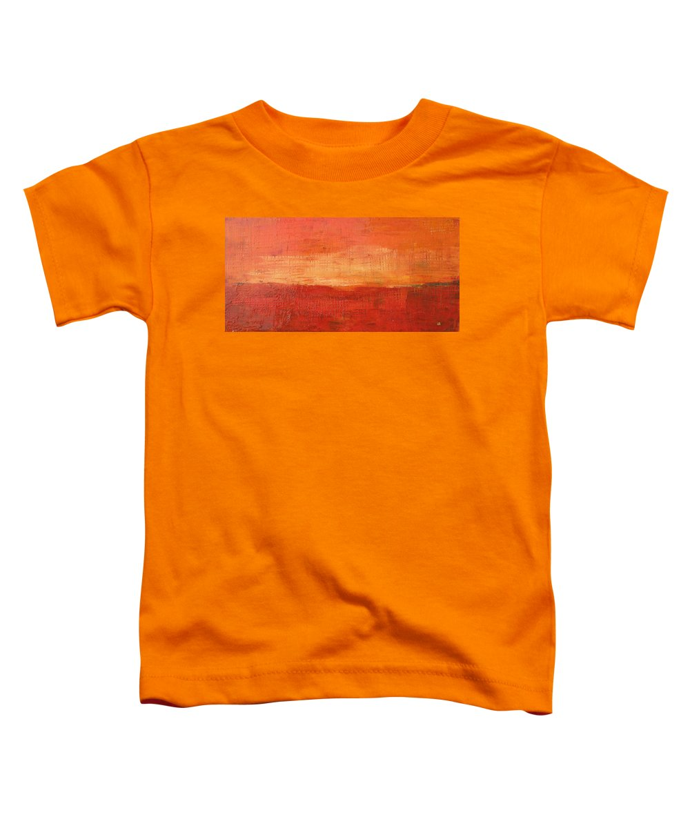 Abstract Toddler T-Shirt featuring the painting Sunset by Habib Ayat