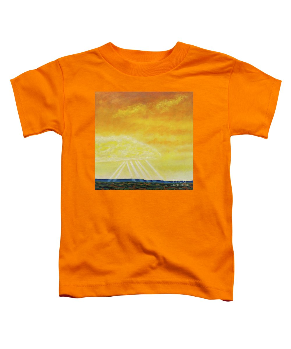 Landscape Toddler T-Shirt featuring the painting Super Seven by Brian Commerford