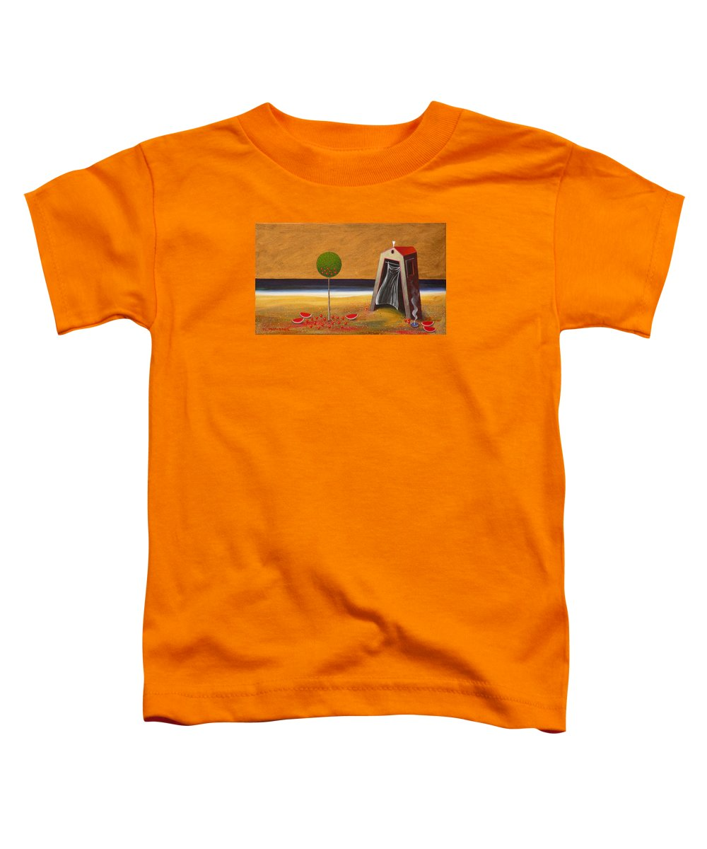 Astronomy Toddler T-Shirt featuring the painting the Buff House by Dimitris Milionis