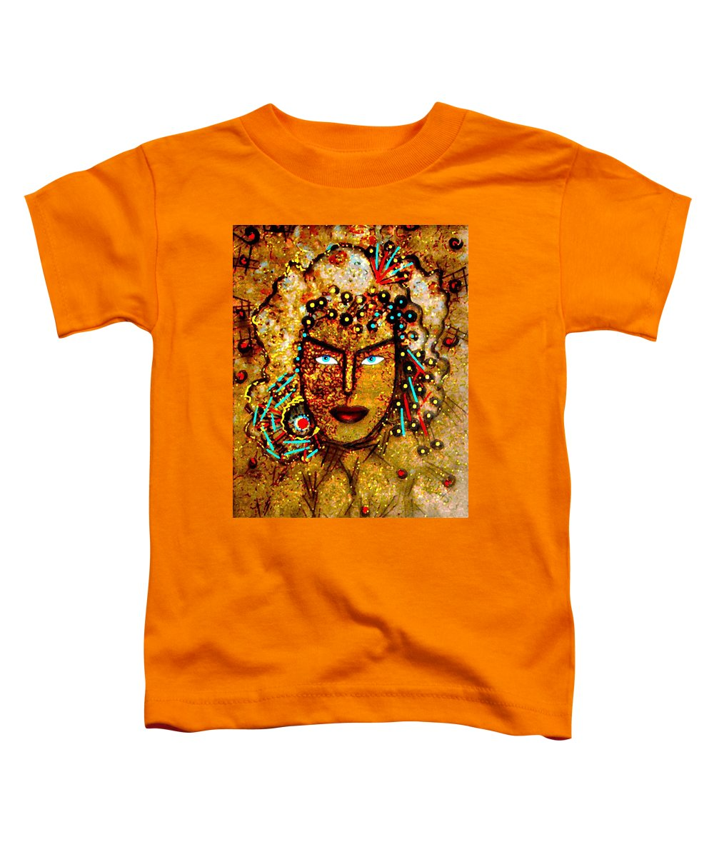 Goddess Toddler T-Shirt featuring the painting The Golden Goddess by Natalie Holland