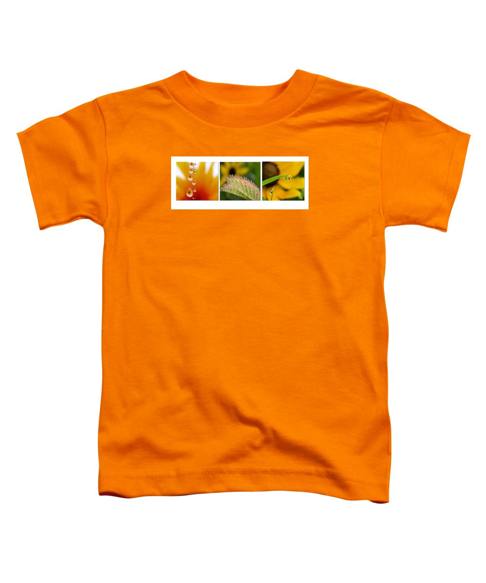 Dew Toddler T-Shirt featuring the photograph Tiny Miracles by Linda Murphy