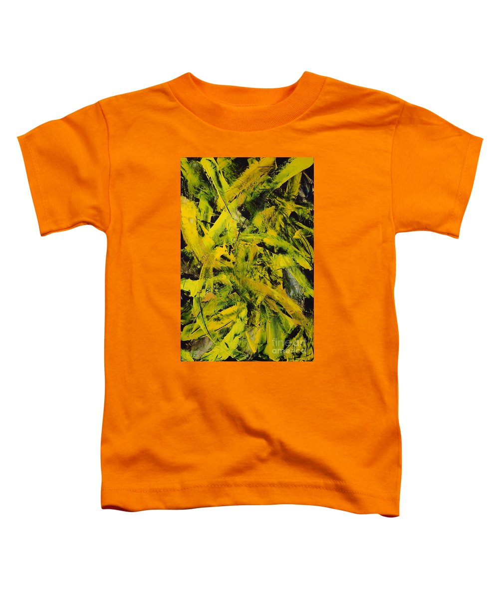 Abstract Toddler T-Shirt featuring the painting Transitions Vi by Dean Triolo