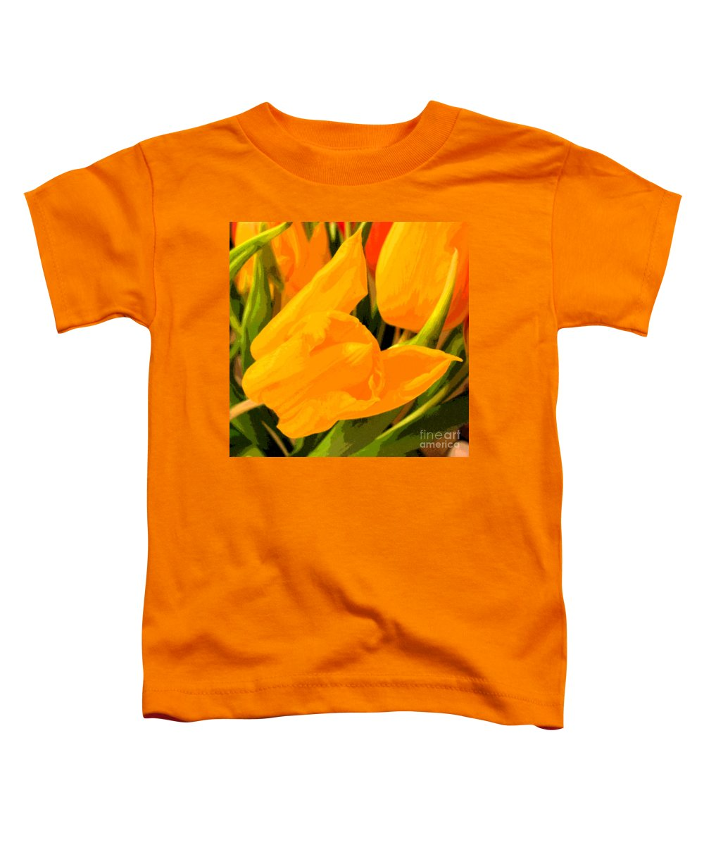 Tulip Toddler T-Shirt featuring the photograph Tulips by Amanda Barcon