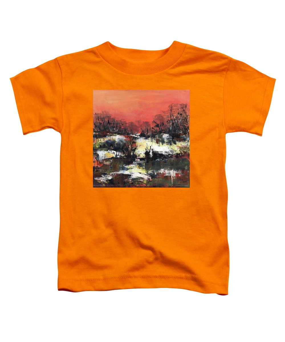 Abstract Toddler T-Shirt featuring the painting Twilight Madness by Aniko Hencz