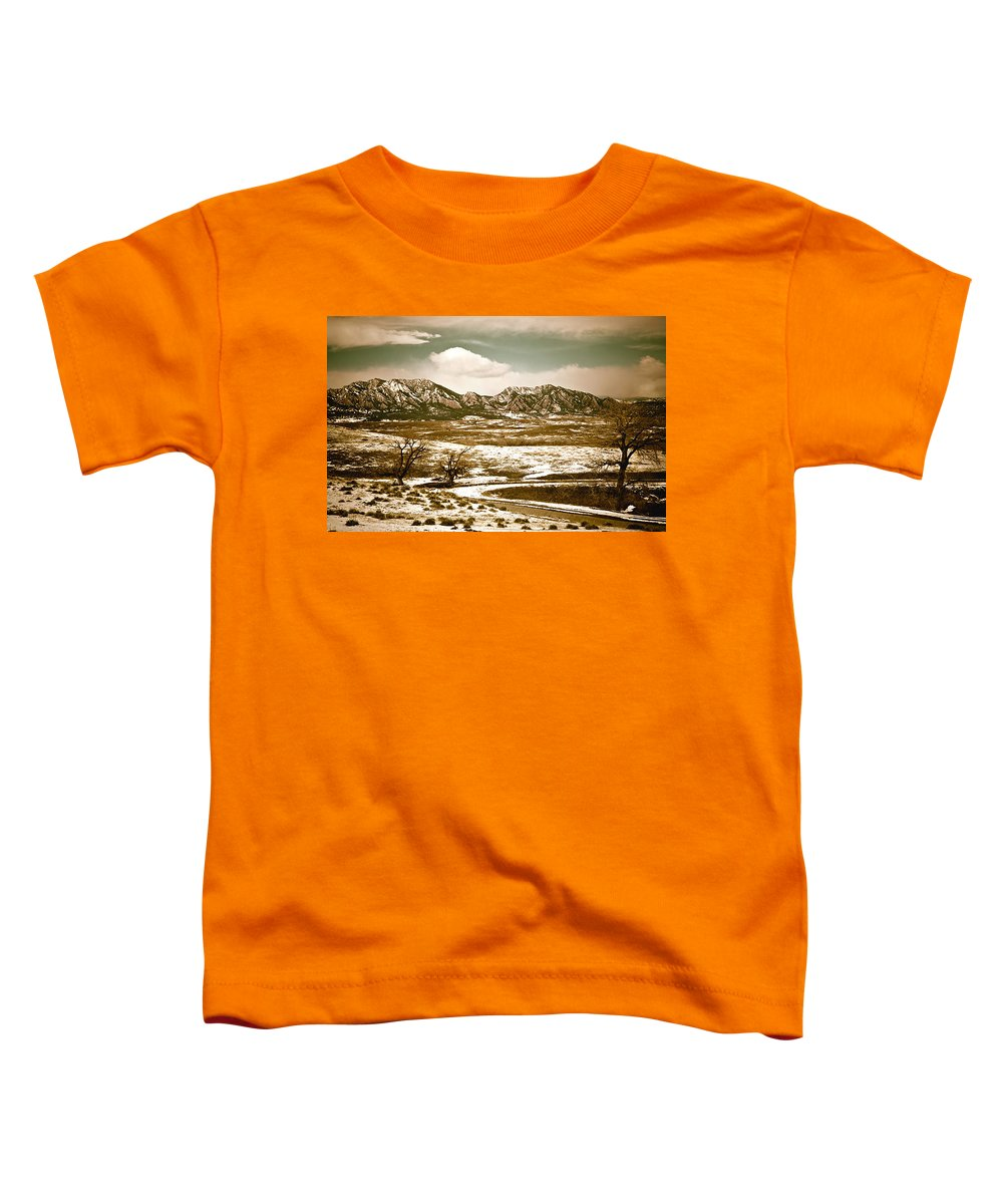 Landscape Toddler T-Shirt featuring the photograph Flatironsview From Superior by Marilyn Hunt