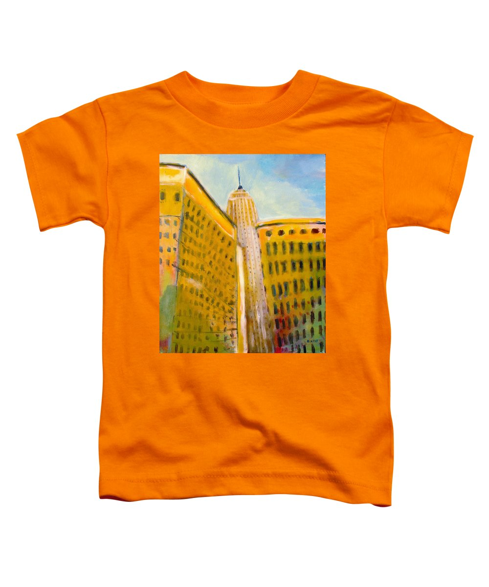 Abstract Cityscape Toddler T-Shirt featuring the painting View From The 33 St by Habib Ayat