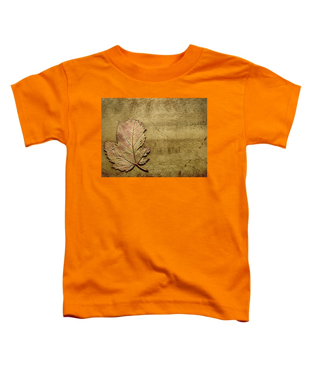 Autumn Toddler T-Shirt featuring the photograph ...while You Fall Apart by Dana DiPasquale