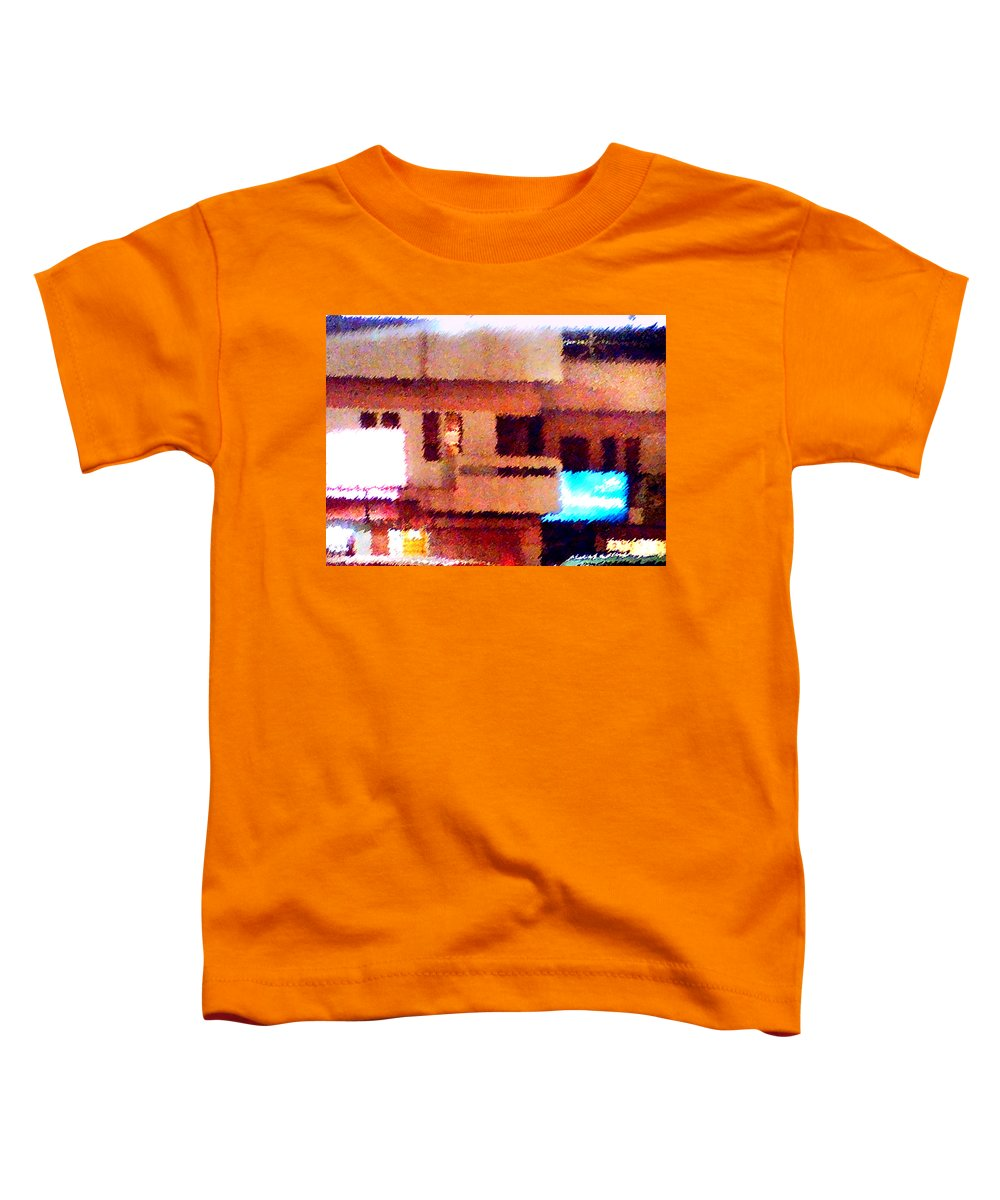 Digital Art Toddler T-Shirt featuring the painting Windows by Anil Nene