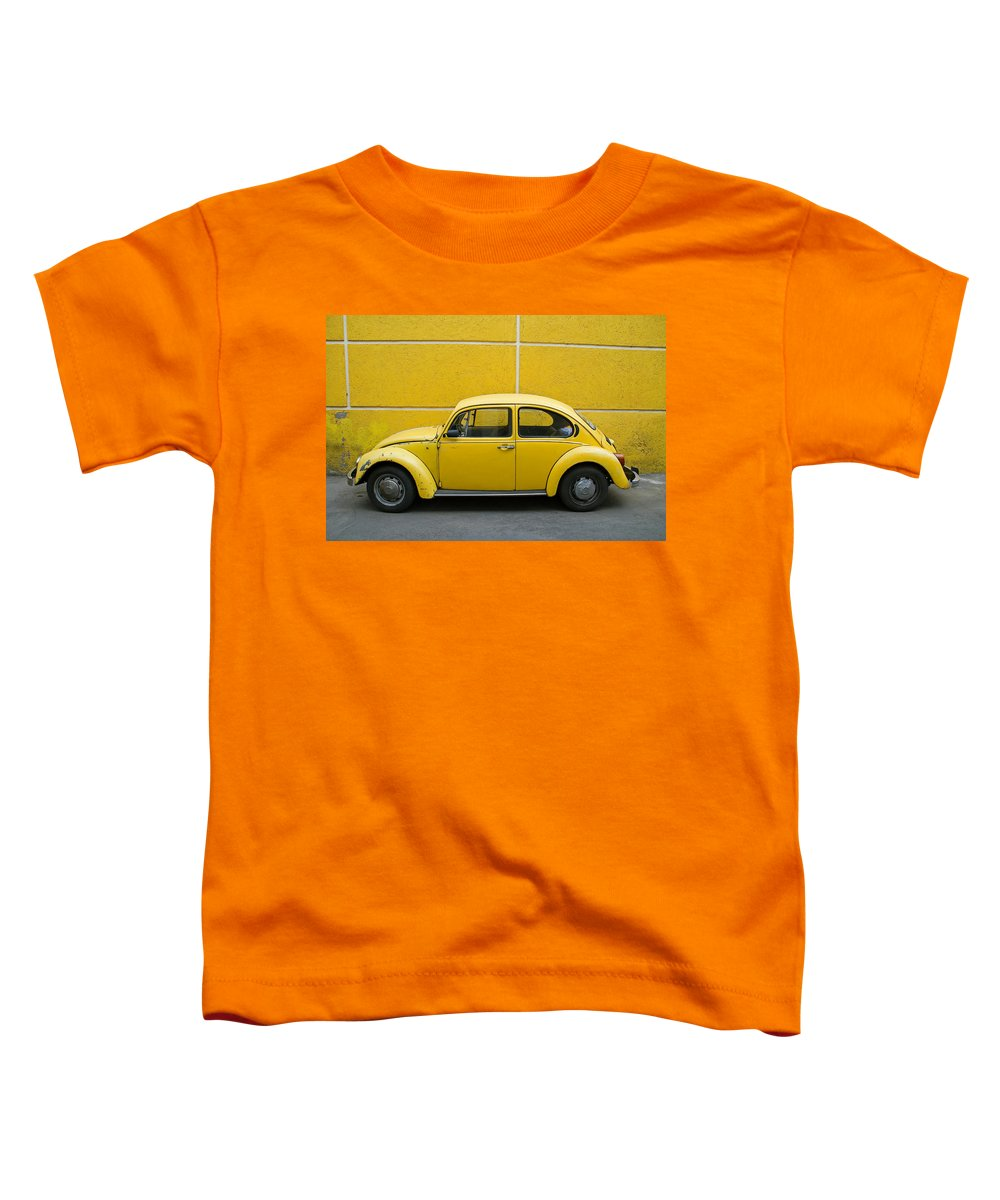 Yellow Toddler T-Shirt featuring the photograph Yellow Bug by Skip Hunt