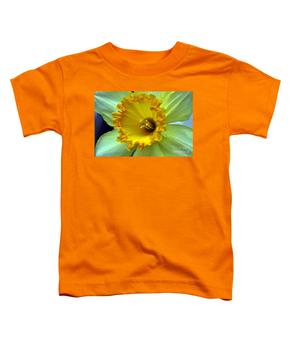 Clay Toddler T-Shirt featuring the photograph Yellow Floral by Clayton Bruster