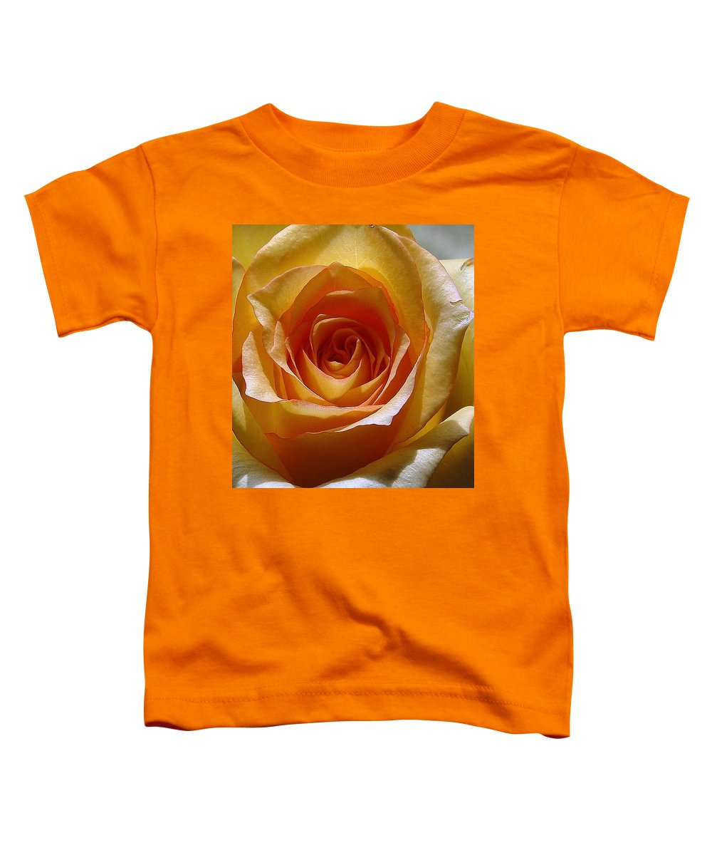 Rose Yellow Toddler T-Shirt featuring the photograph Yellow Rose by Luciana Seymour