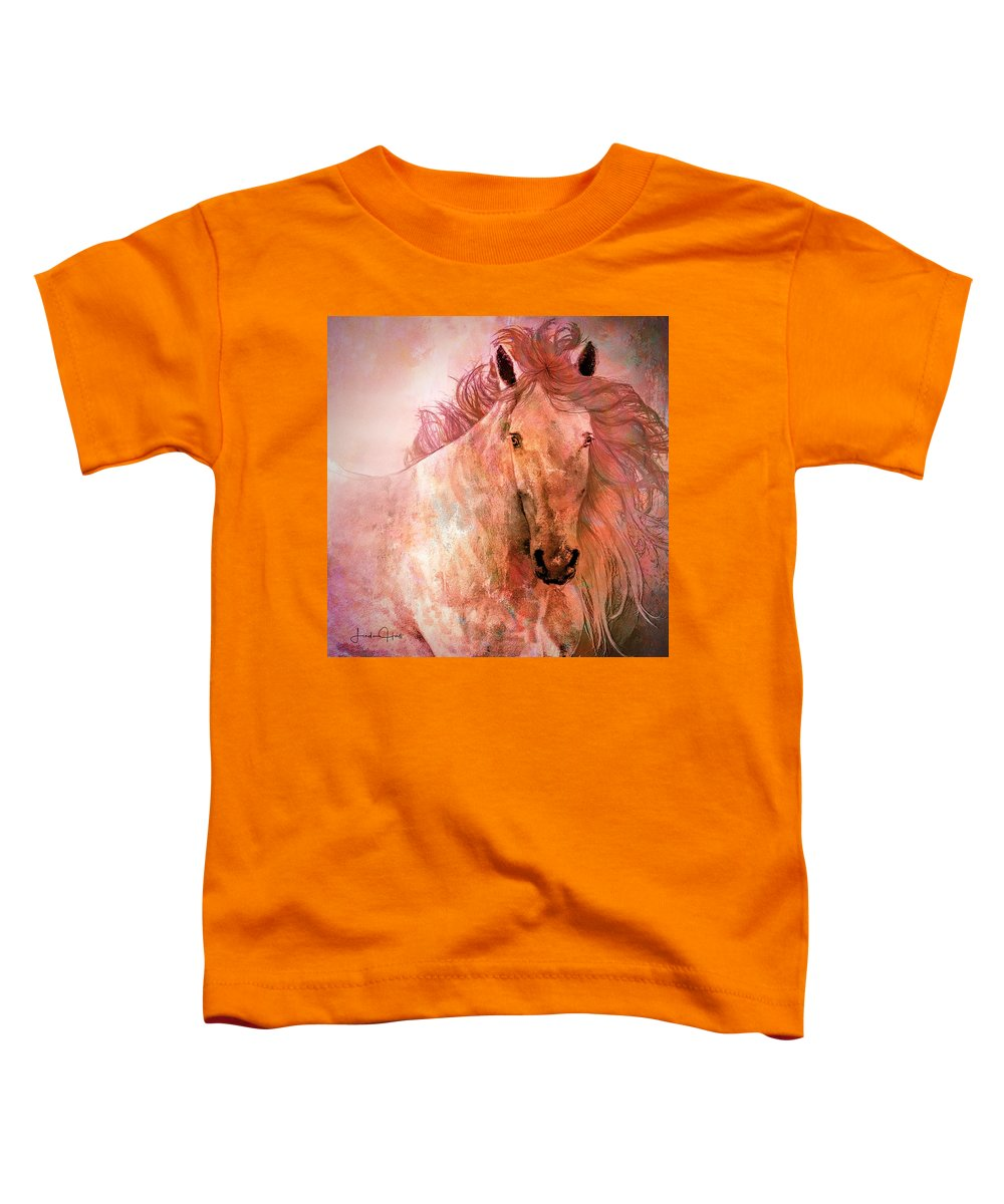 Horse Toddler T-Shirt featuring the digital art A Horse of a Different Color by Linda Lee Hall