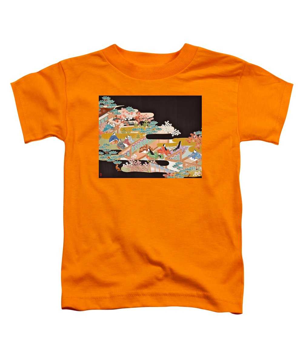 Toddler T-Shirt featuring the digital art Spirit of Japan T18 by Miho Kanamori