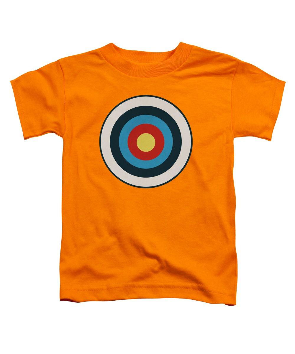 Target Toddler T-Shirt featuring the drawing Vintage Target - Orange by Eric Fan