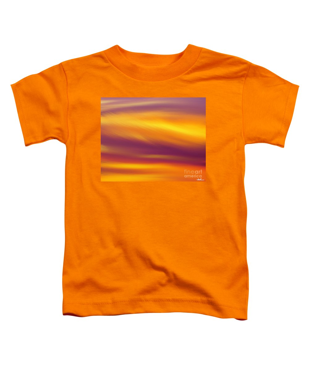 Toddler T-Shirt featuring the painting Whispy Clouds by Jack Bunds