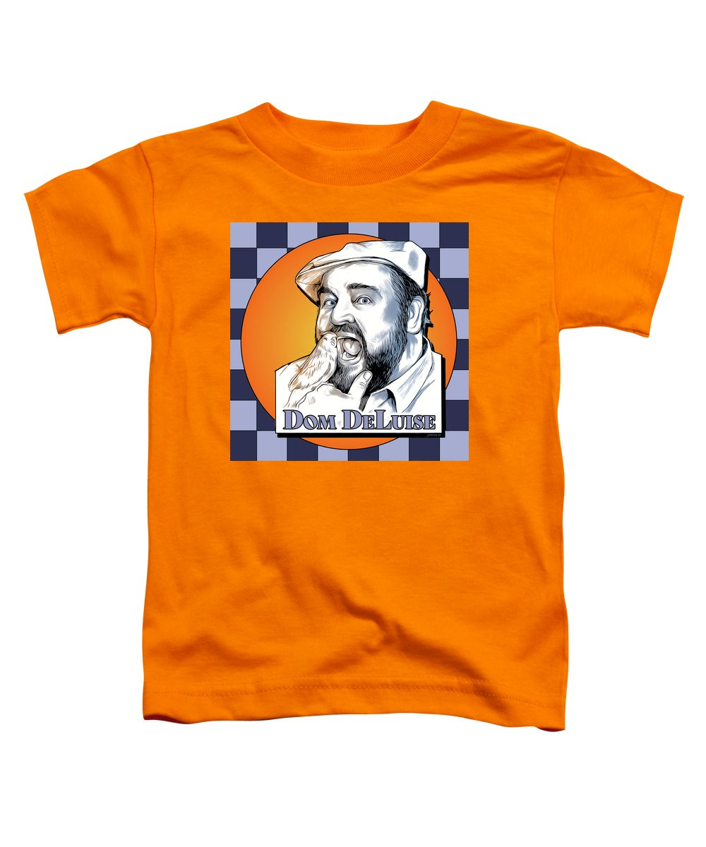 Dom Deluise Toddler T-Shirt featuring the digital art Dom and the Bird by Greg Joens