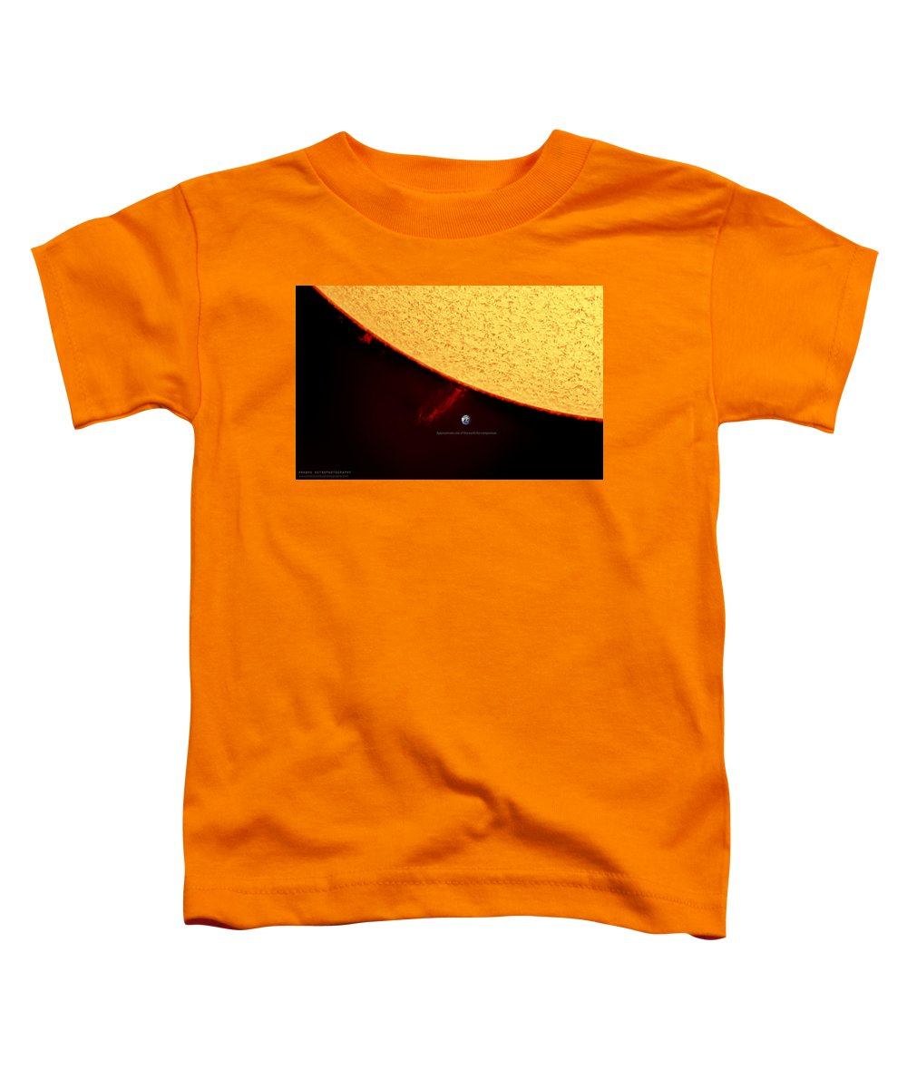 Solarprominence Toddler T-Shirt featuring the photograph Prominence by Prabhu Astrophotography