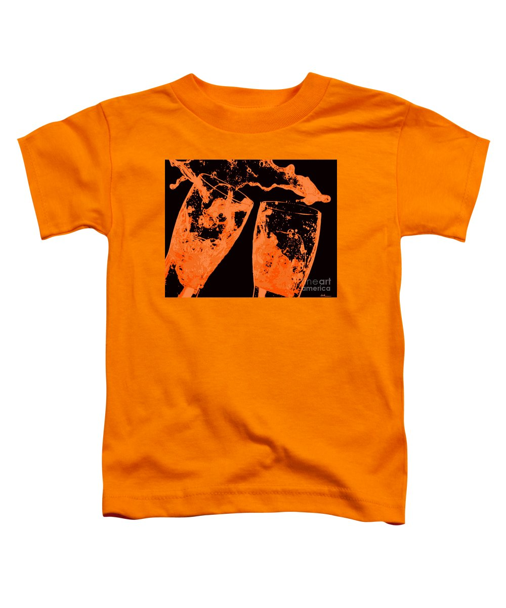 Splash Toddler T-Shirt featuring the painting Saturday Suds by Jack Bunds