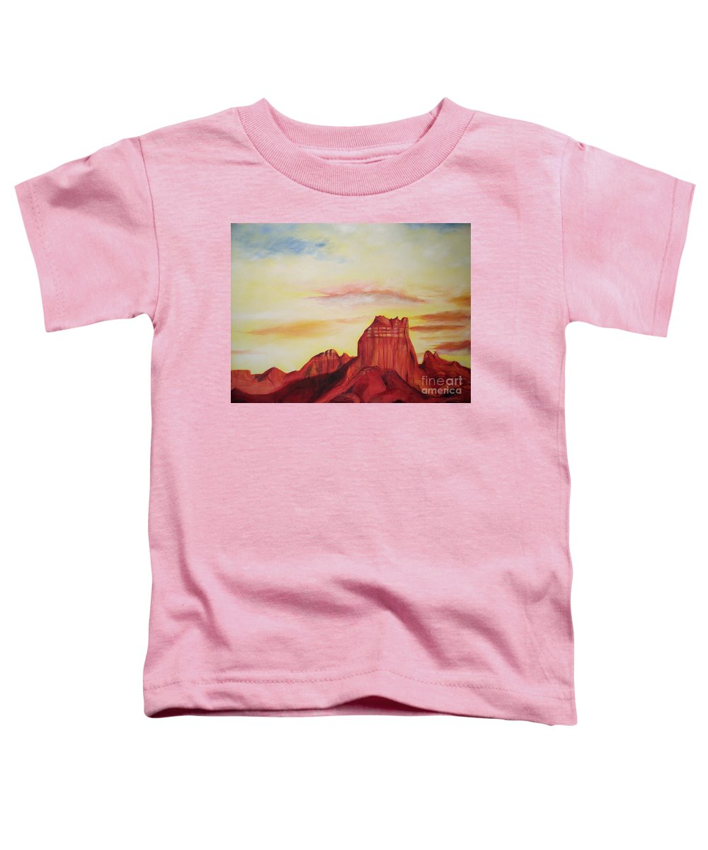 Western Toddler T-Shirt featuring the painting Sedona Az by Eric Schiabor