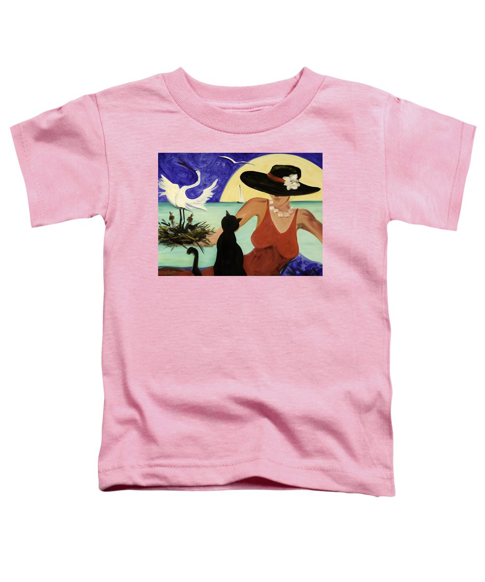 Colorful Art Toddler T-Shirt featuring the painting Living The Dream by Gina De Gorna