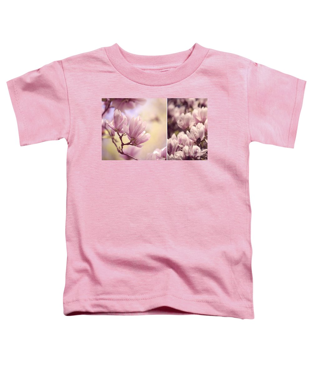 Magnolia Toddler T-Shirt featuring the photograph Magnolia Flowers by Nailia Schwarz