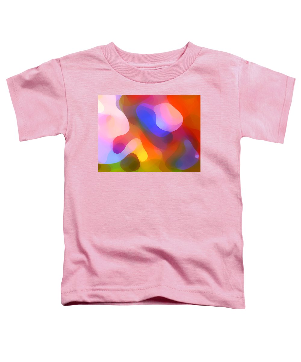 Abstract Art Toddler T-Shirt featuring the painting Abstract Dappled Sunlight by Amy Vangsgard