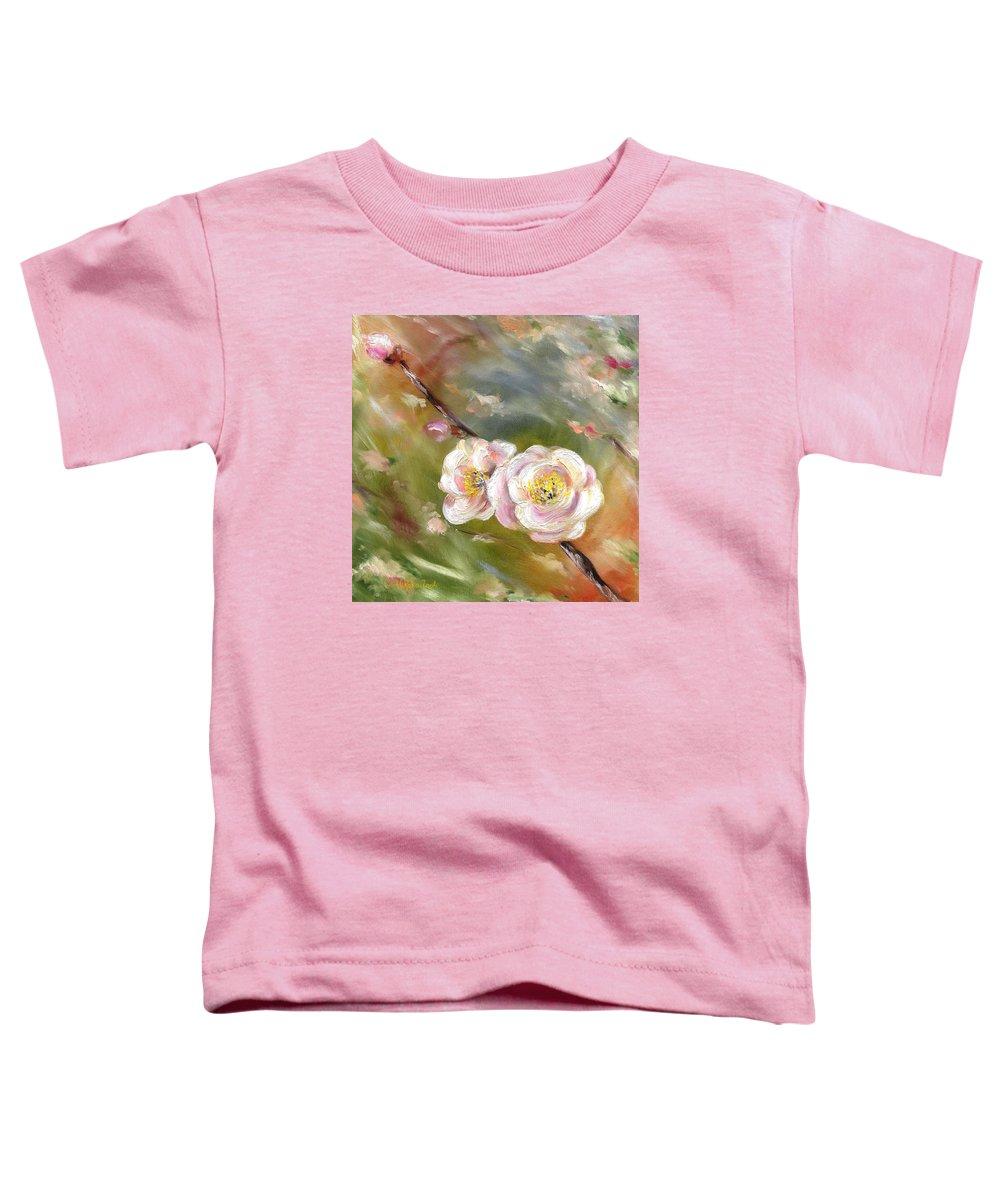Flower Toddler T-Shirt featuring the painting Anniversary by Hiroko Sakai