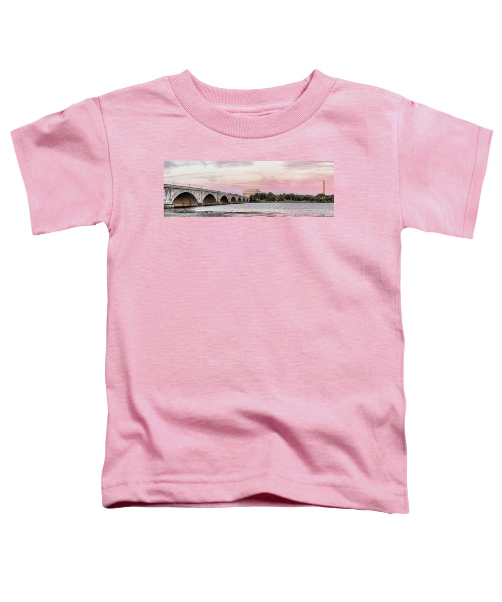 Photography Toddler T-Shirt featuring the photograph Arlington Memorial Bridge With Lincoln by Panoramic Images