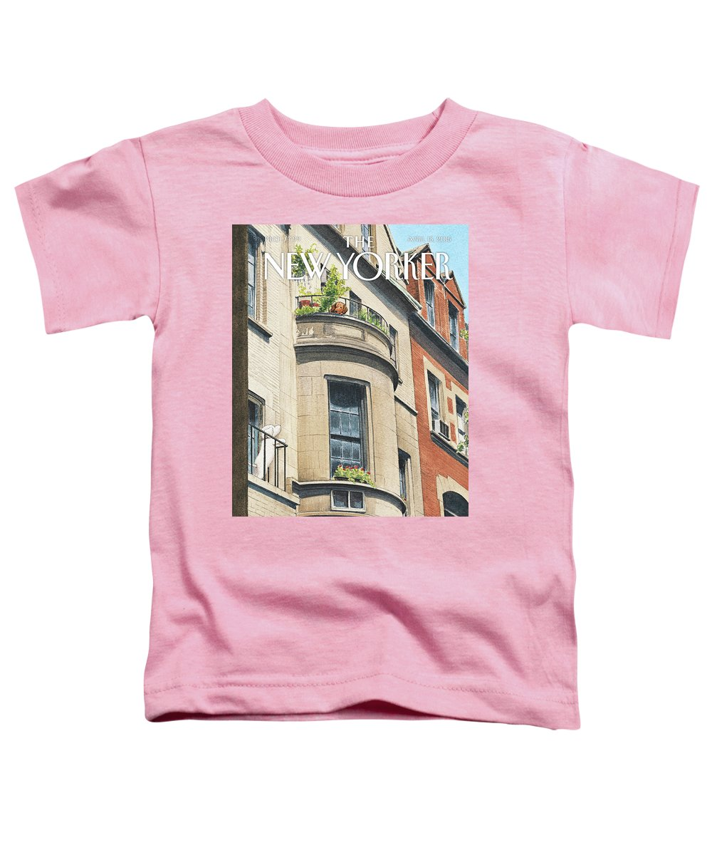 Dog Toddler T-Shirt featuring the painting Balcony Scene by Harry Bliss