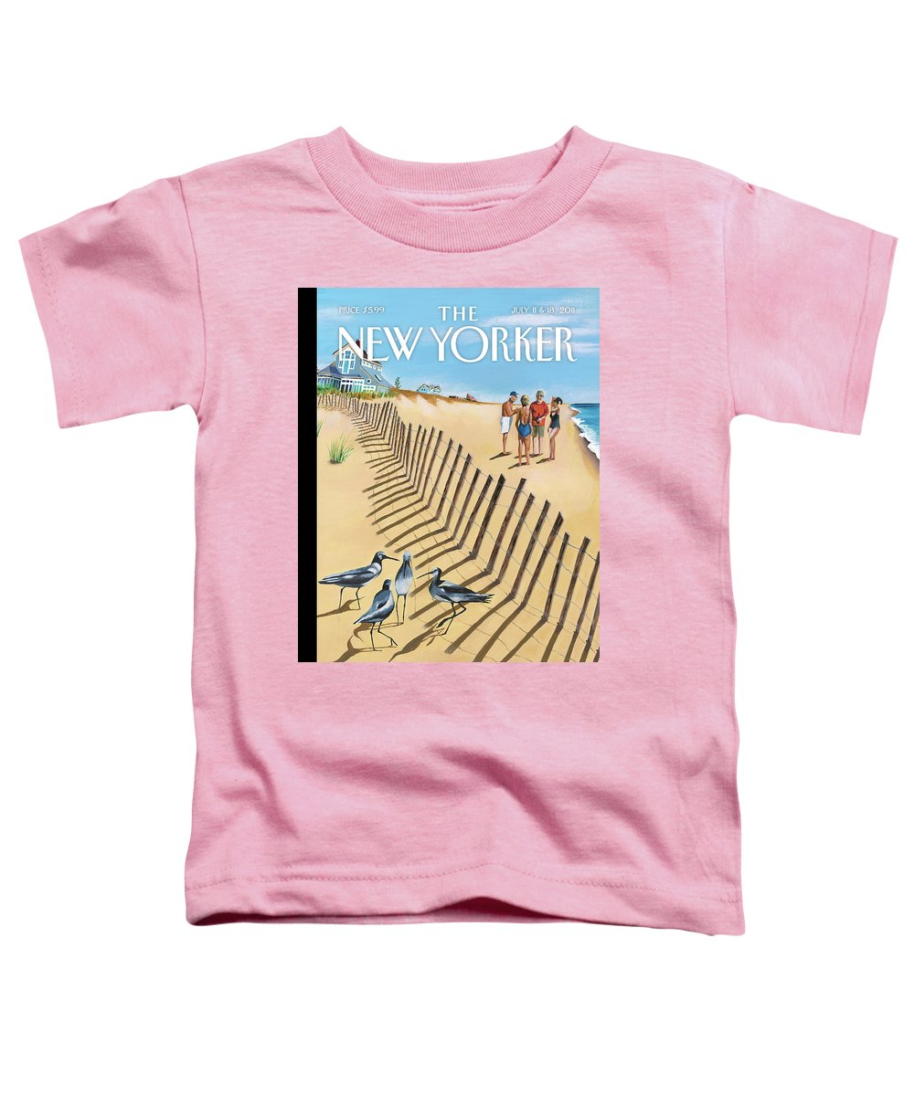 Birds Of A Feather Toddler T-Shirt featuring the painting Birds Of A Feather by Mark Ulriksen