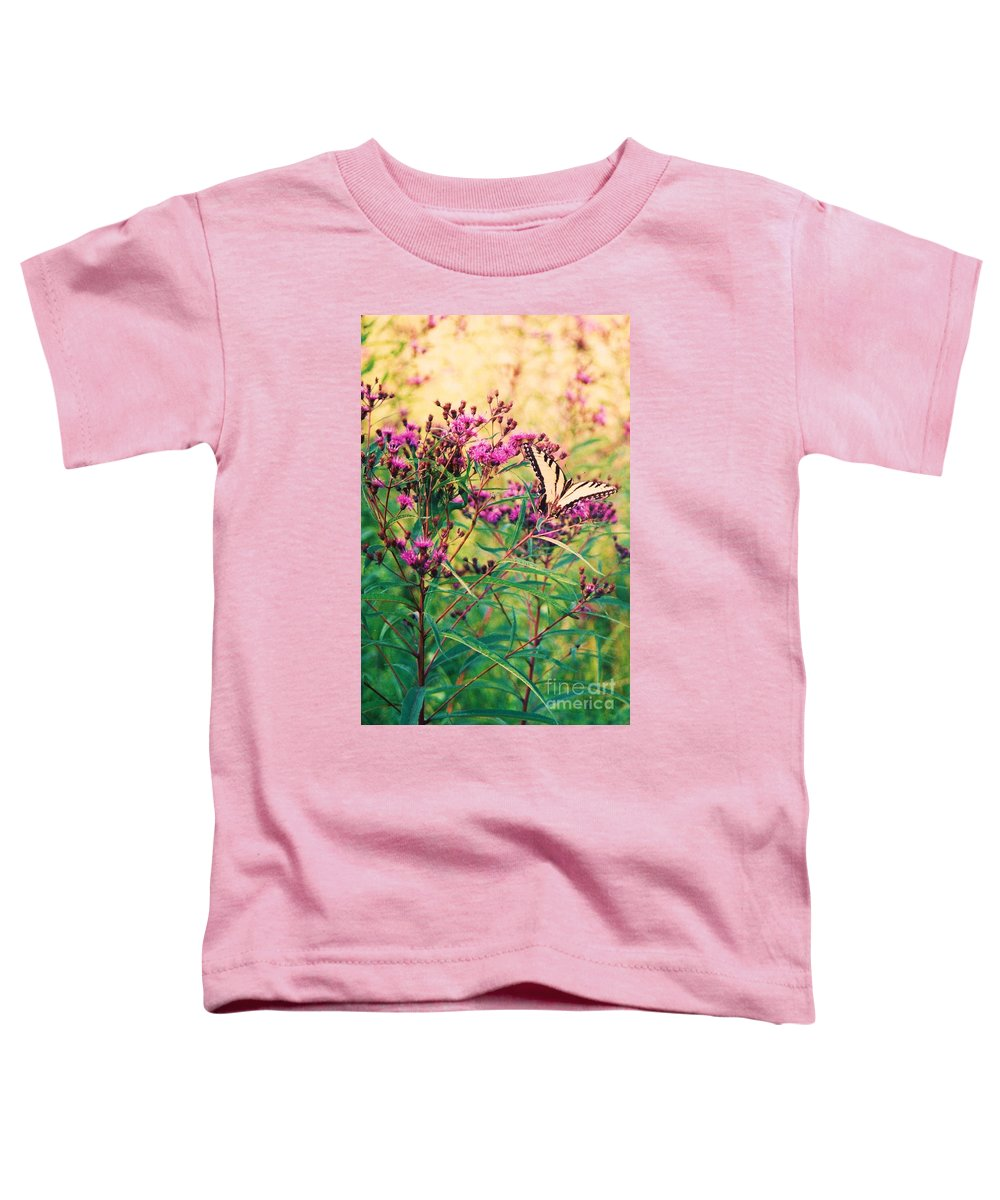 Floral Toddler T-Shirt featuring the painting Butterfly Wildflower by Eric Schiabor