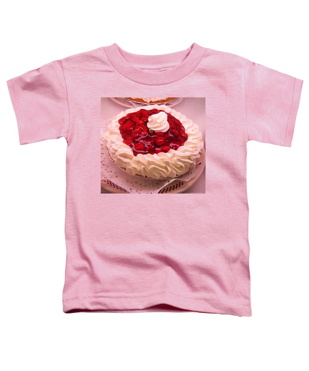Still Life Toddler T-Shirt featuring the painting Cherry Pie With Whip Cream by Amy Vangsgard