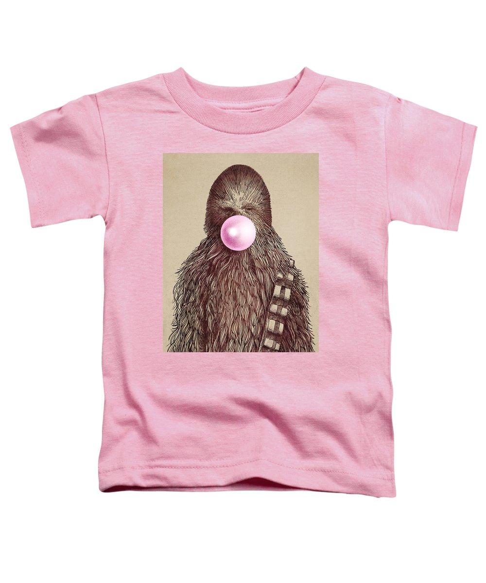 Bubblegum Toddler T-Shirt featuring the drawing Big Chew by Eric Fan