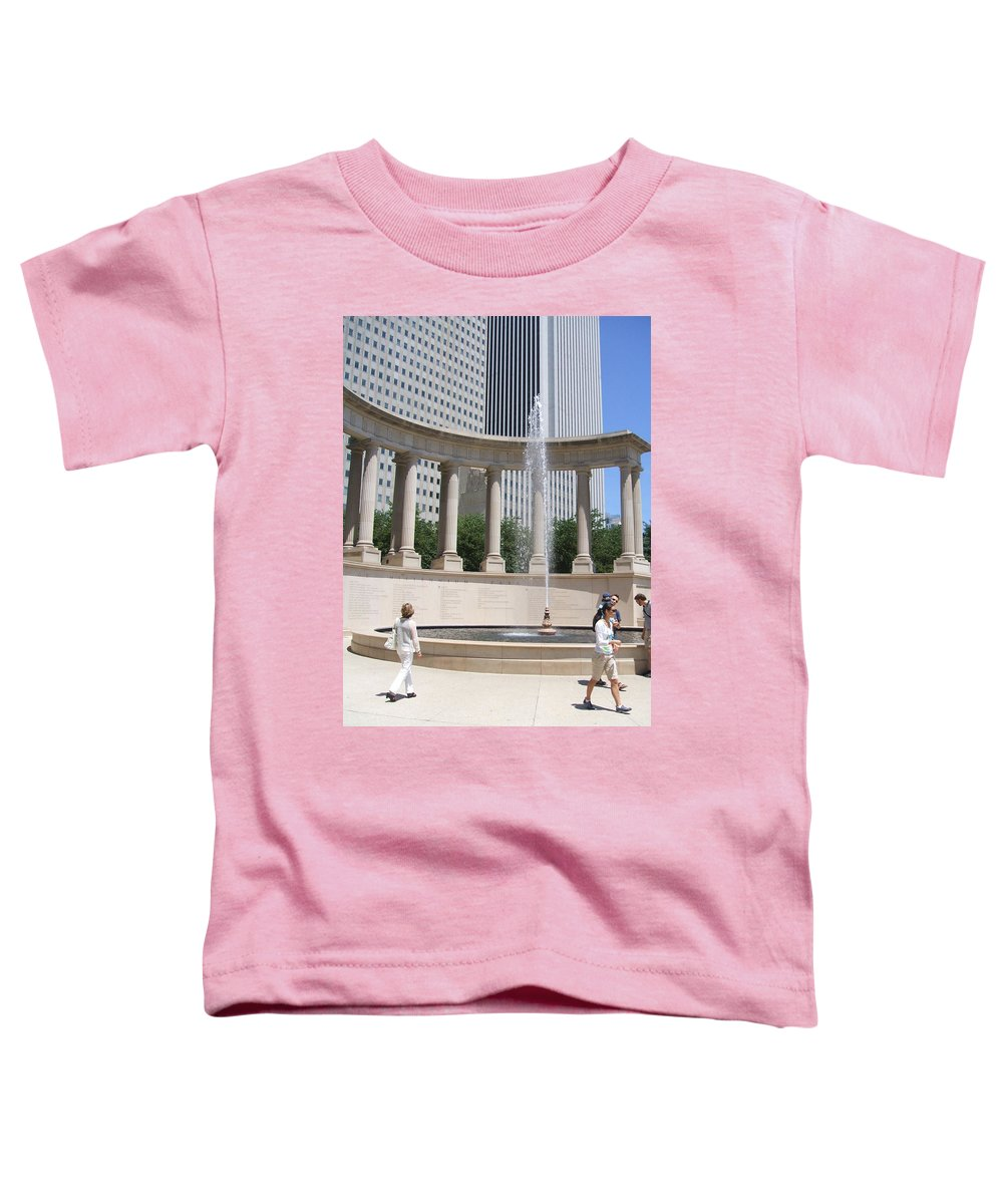 Chicago Toddler T-Shirt featuring the photograph Chicago Tourism by Minding My Visions by Adri and Ray
