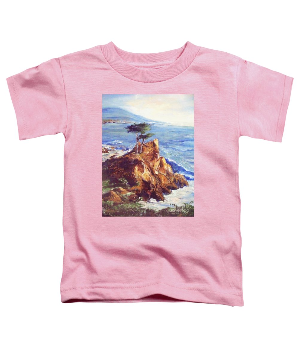 Seascape Toddler T-Shirt featuring the painting Imaginary Cypress by Eric Schiabor