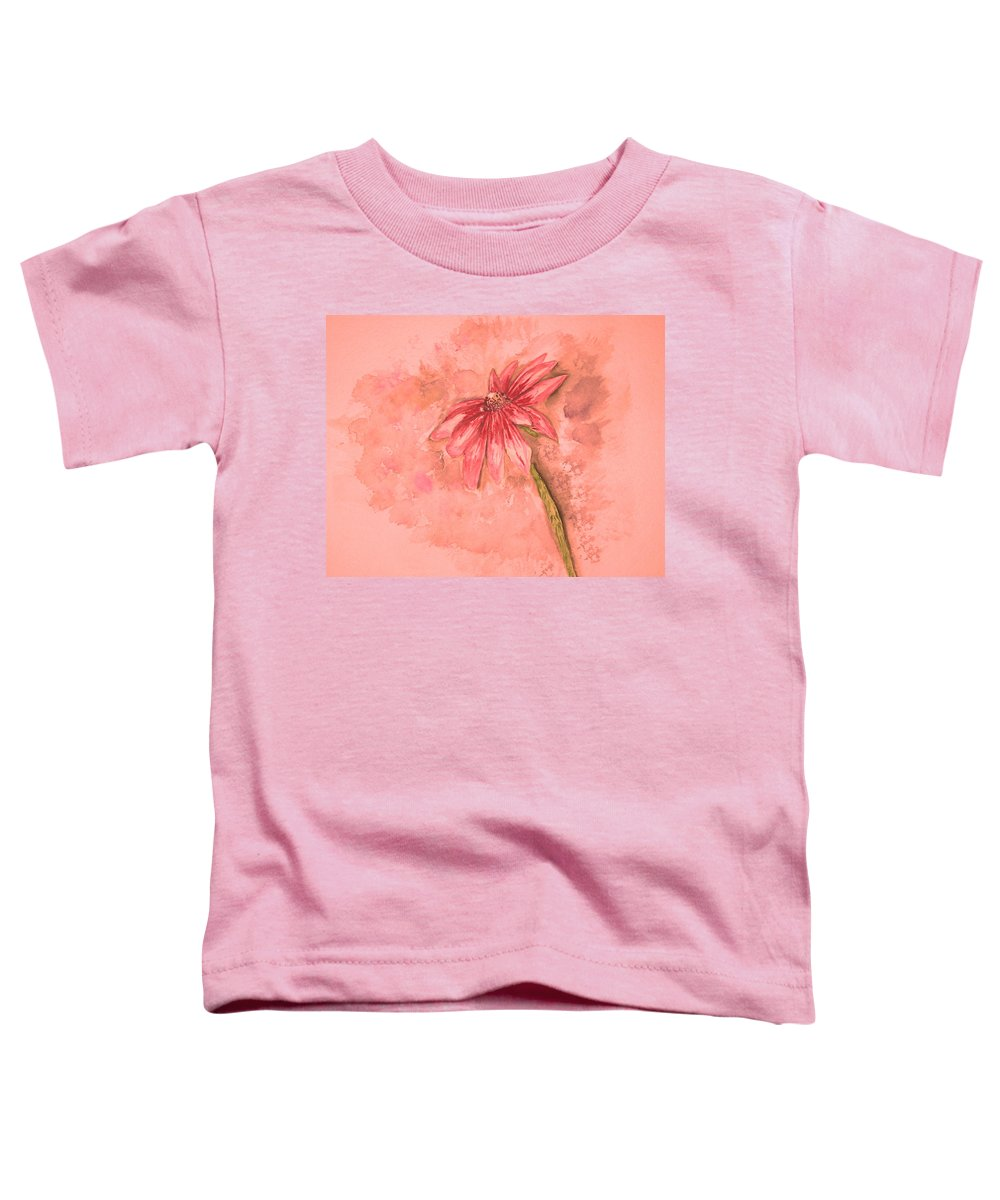 Watercolor Toddler T-Shirt featuring the painting Melancholoy by Crystal Hubbard