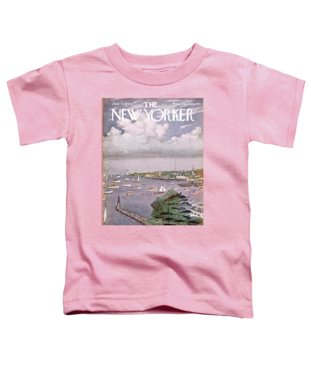 Albert Hubbell Ahu Toddler T-Shirt featuring the painting New Yorker June 13th, 1964 by Albert Hubbell