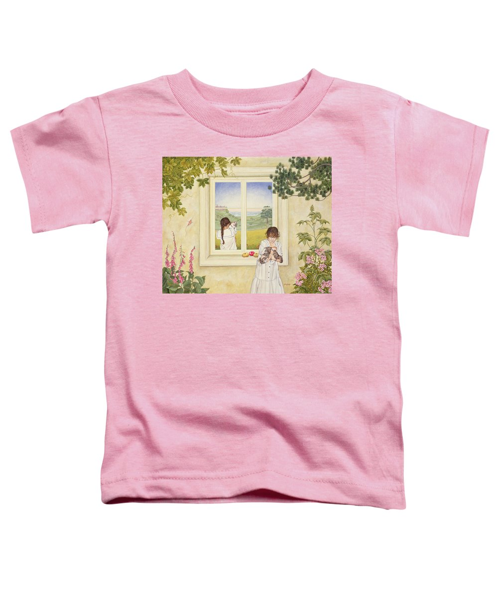 Window Toddler T-Shirt featuring the photograph Outside Out Times Julie, 1988 by Ditz
