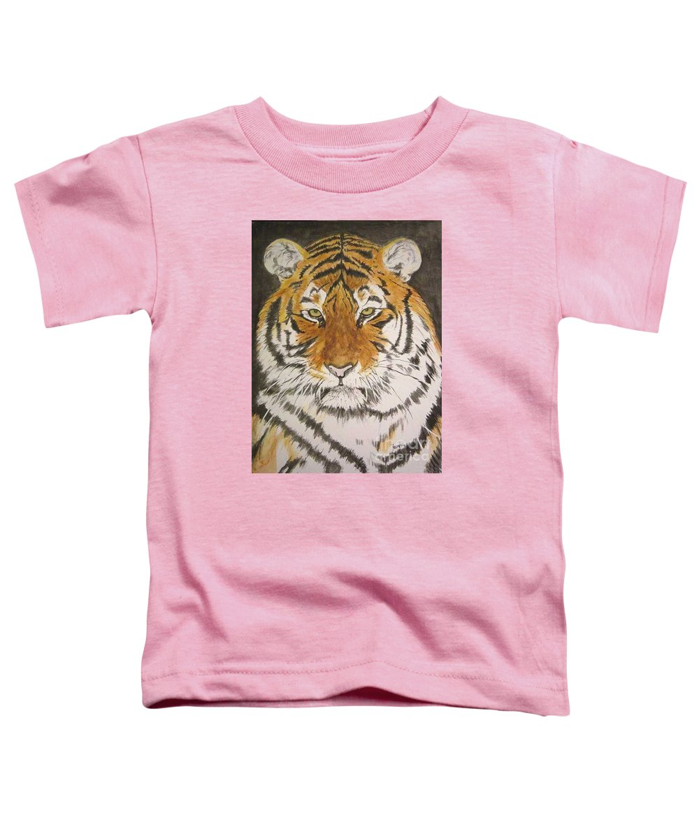 Siberian Tiger Toddler T-Shirt featuring the painting Siberian Tiger by Regan J Smith