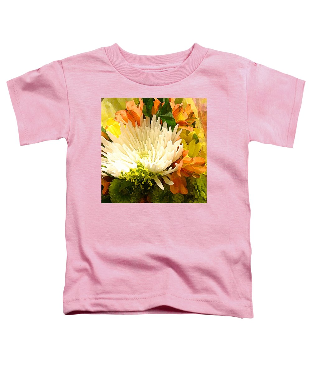 Roses Toddler T-Shirt featuring the painting Spring Flower Burst by Amy Vangsgard