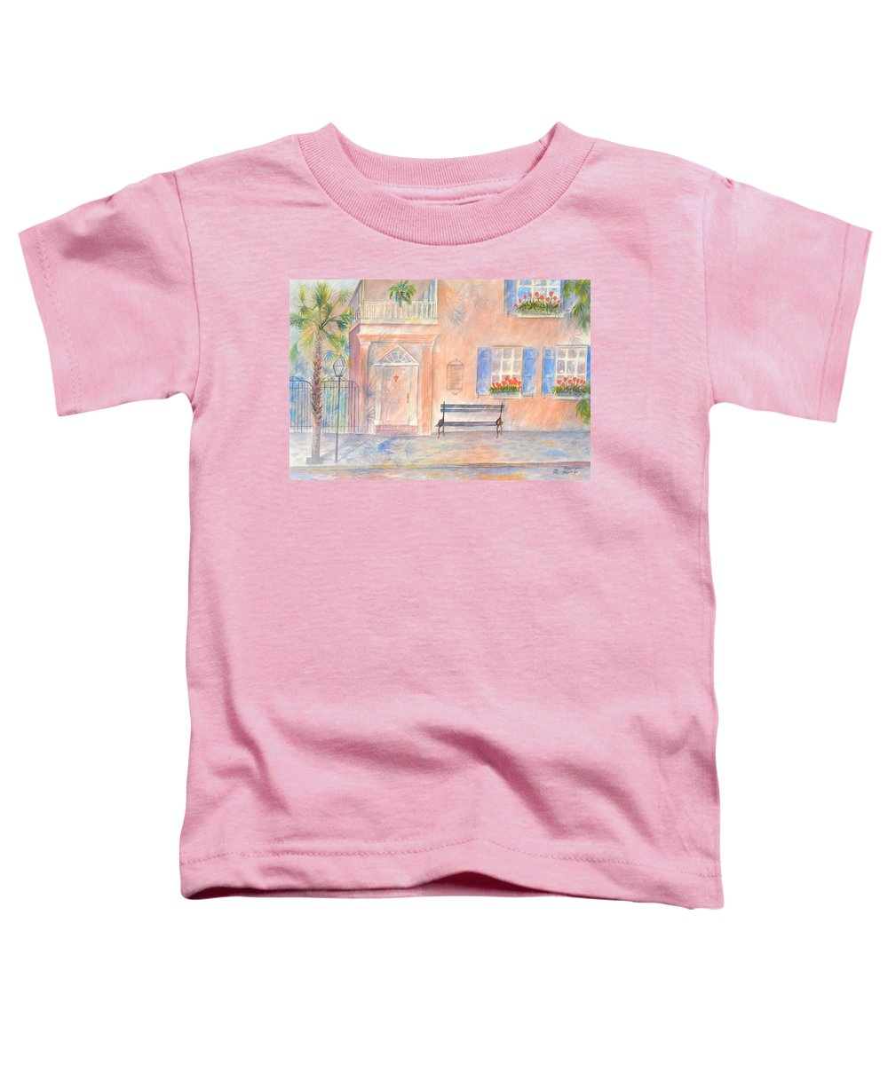 Charleston; Low Country; Palmetto Tree Toddler T-Shirt featuring the painting Sunday Morning In Charleston by Ben Kiger
