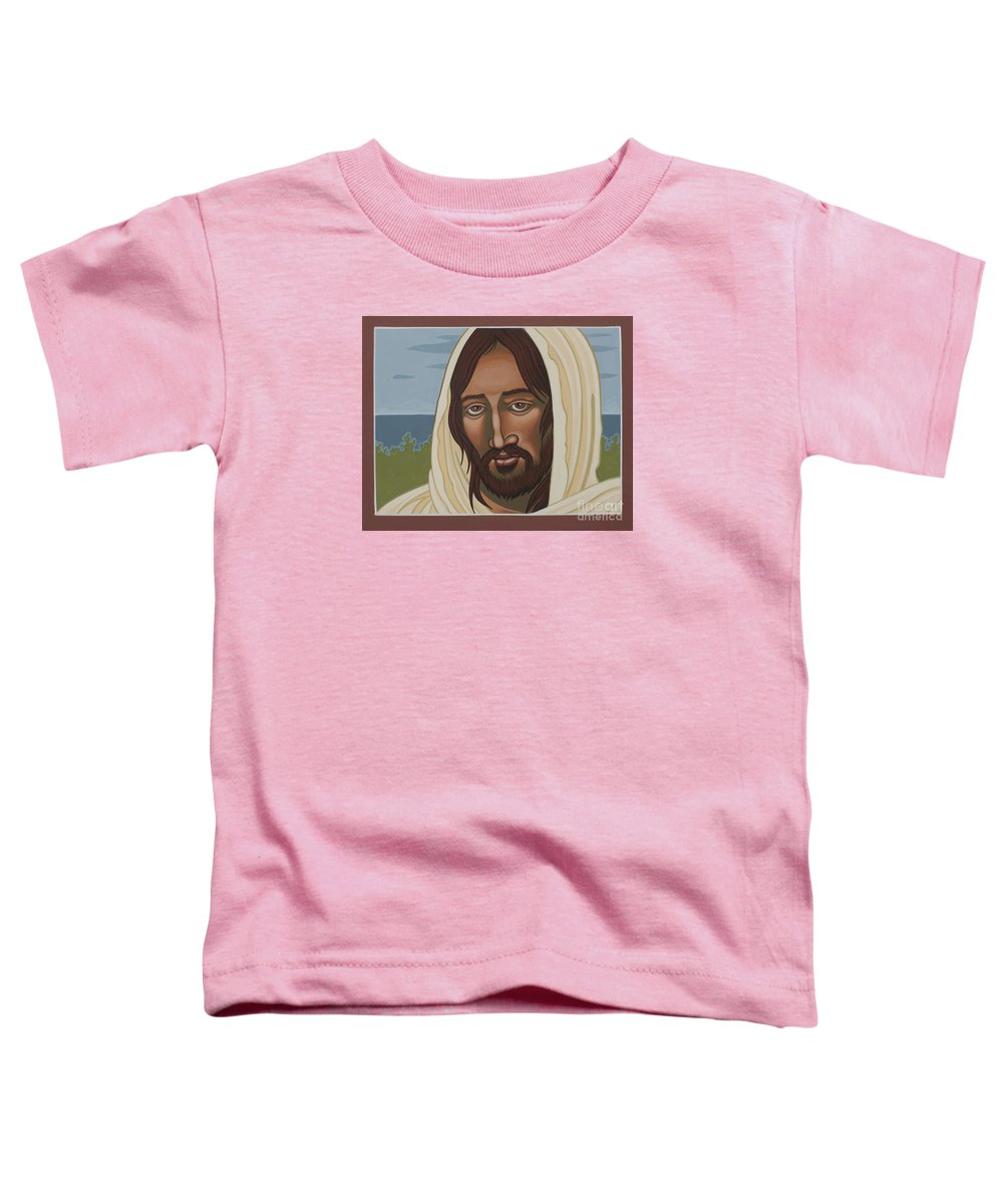 Jesus Toddler T-Shirt featuring the painting The Galilean Jesus 266 by William Hart McNichols