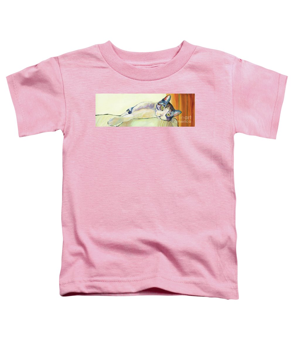 Pat Saunders-white Canvas Prints Toddler T-Shirt featuring the painting The Sunbather by Pat Saunders-White